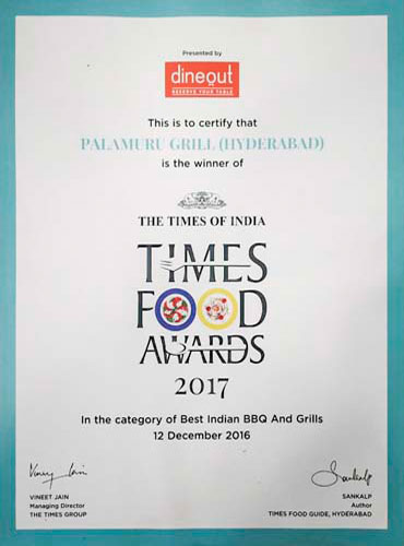 TIMES FOOD AWARDS 2017